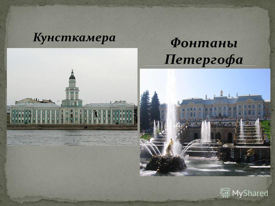 Кунсткамера Фонтаны Петергофа