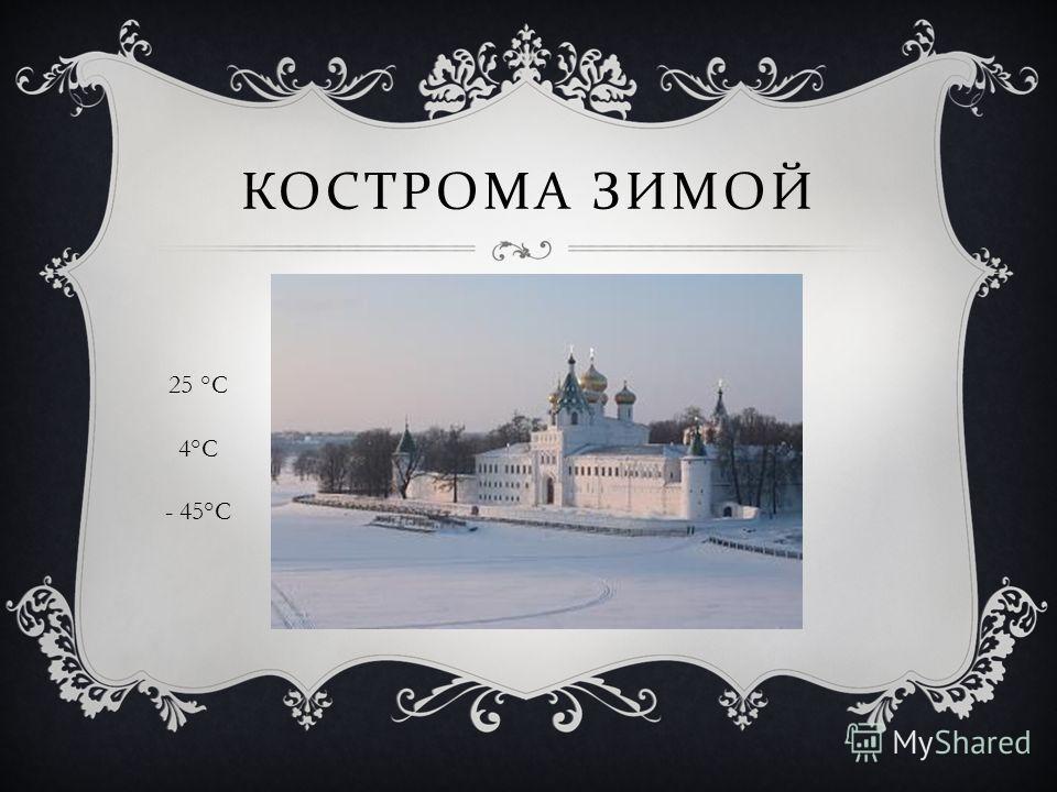 КОСТРОМА ЗИМОЙ 25 °C 4°C - 45°C