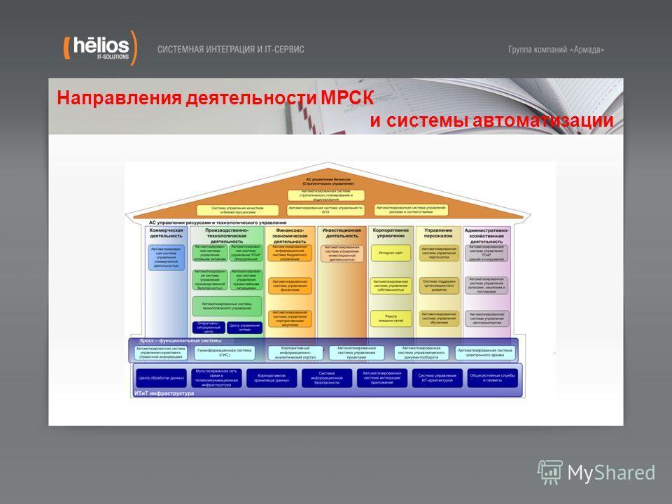 5 Направления деятельности МРСК и системы автоматизации