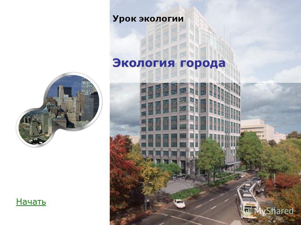 Начать Экология города Урок экологии Экология города