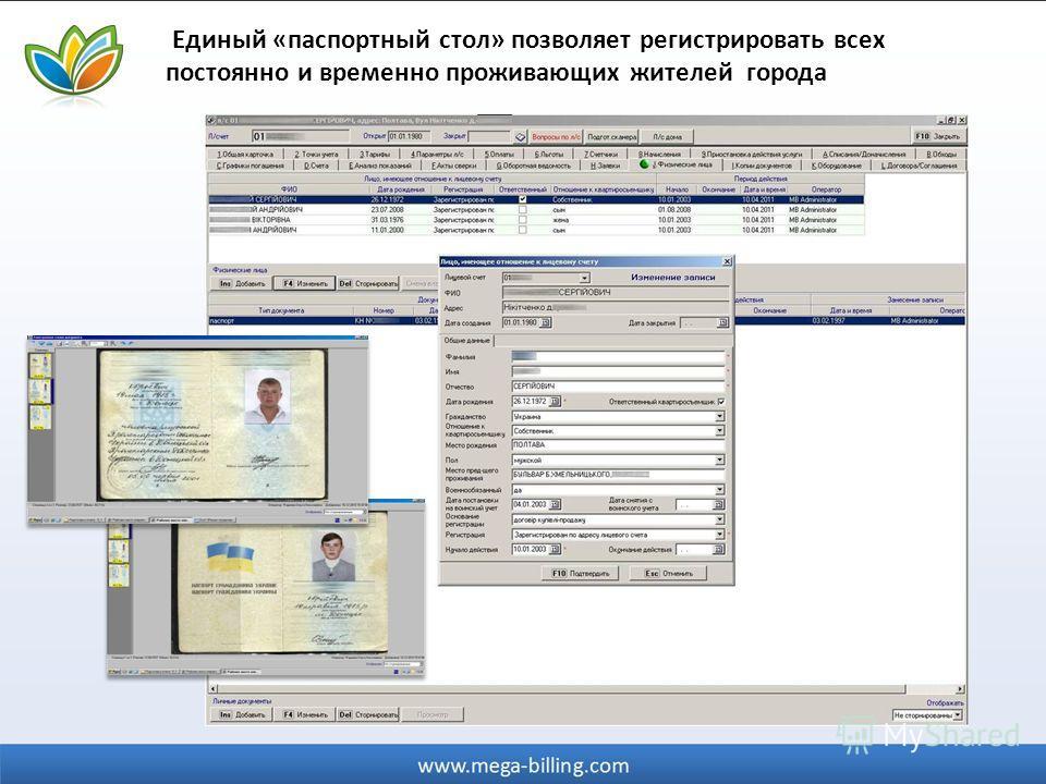 Единый «паспортный стол» позволяет регистрировать всех постоянно и временно проживающих жителей города