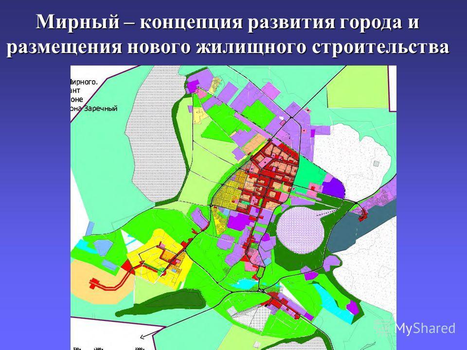 Мирный – концепция развития города и размещения нового жилищного строительства