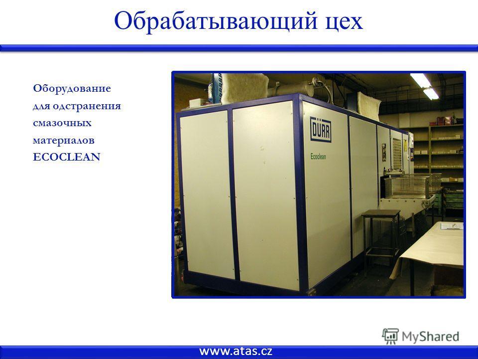 www.atas.cz Оборудование для одстранения смазочных материалов ECOCLEAN Обрабатывающий цех