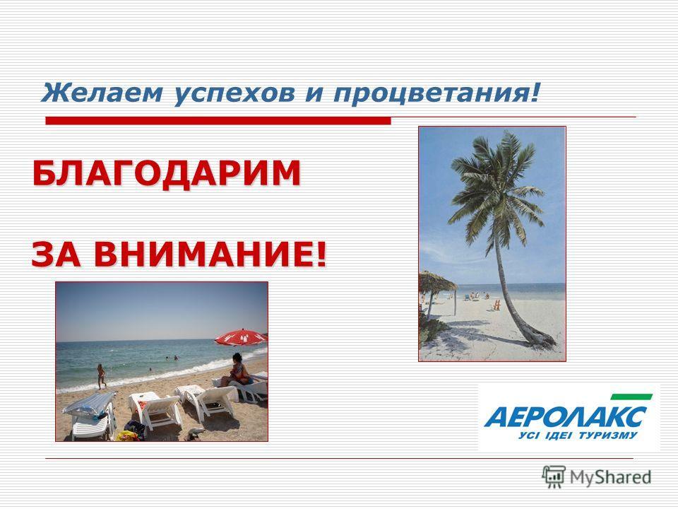 Желаем успехов и процветания! БЛАГОДАРИМ ЗА ВНИМАНИЕ!