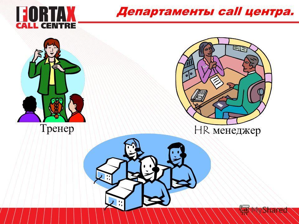 Департаменты call центра. Менеджер проекта Менеджер отдела качества