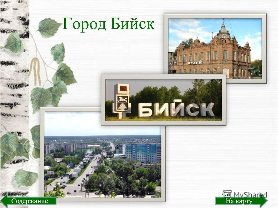 Город Бийск На картуСодержание