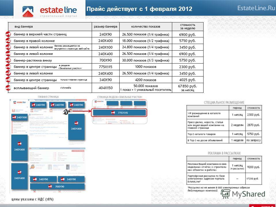 Прайс действует с 1 февраля 2012