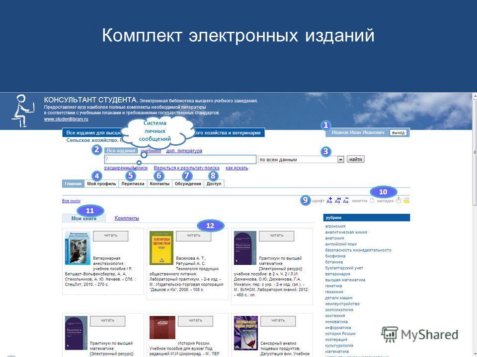 1 2 3 4 5678 9 10 11 12 настраиваемый профиль пользователя Комплект электронных изданий