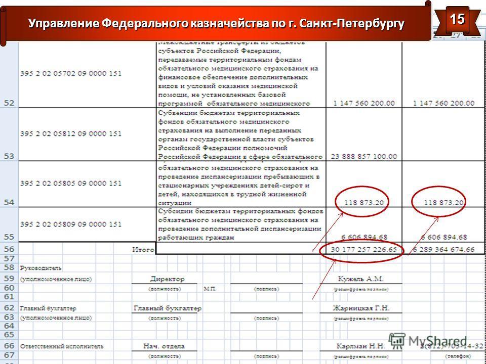 www.piter.roskazna.ru Управление Федерального казначейства по г. Санкт-Петербургу 1515