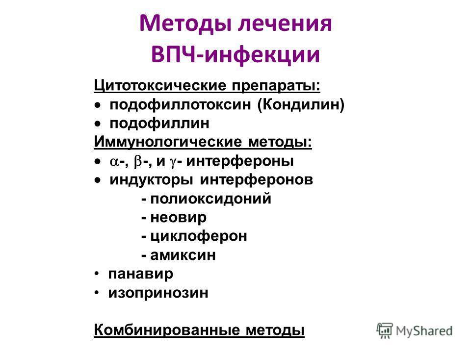 Методы лечения ВПЧ-инфекции