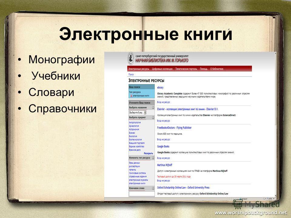 Монографии Учебники Словари Справочники Электронные книги