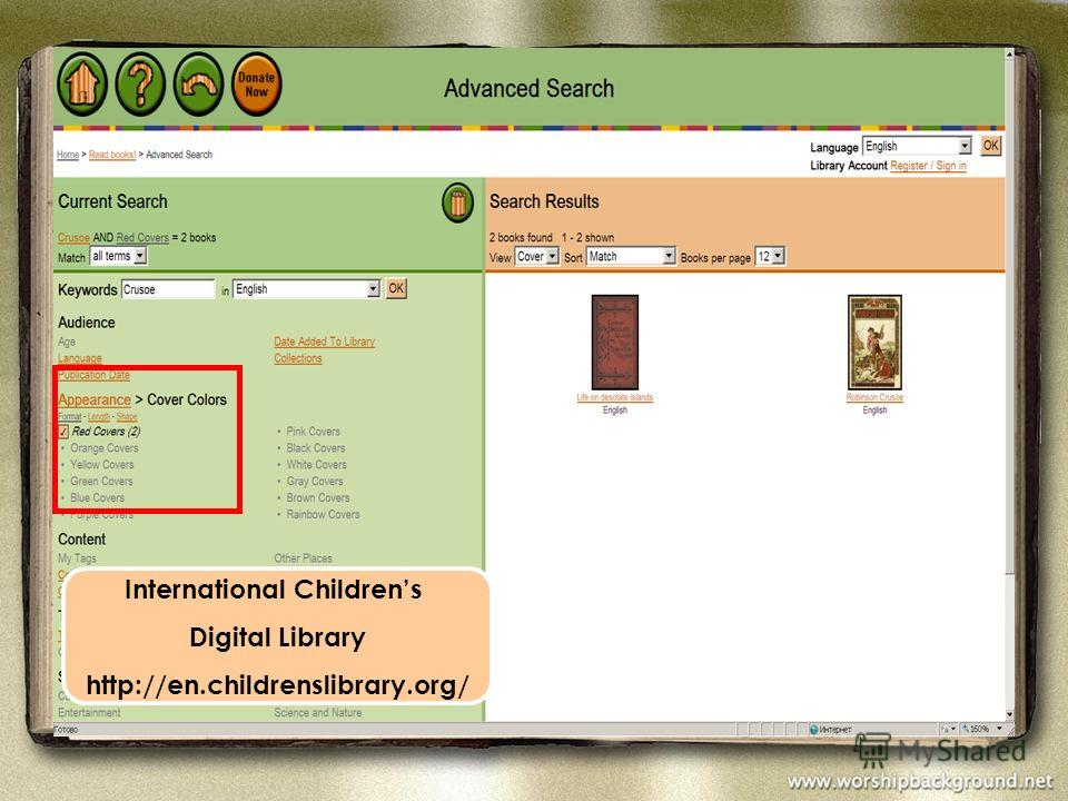 International Childrens Digital Library http://en.childrenslibrary.org/