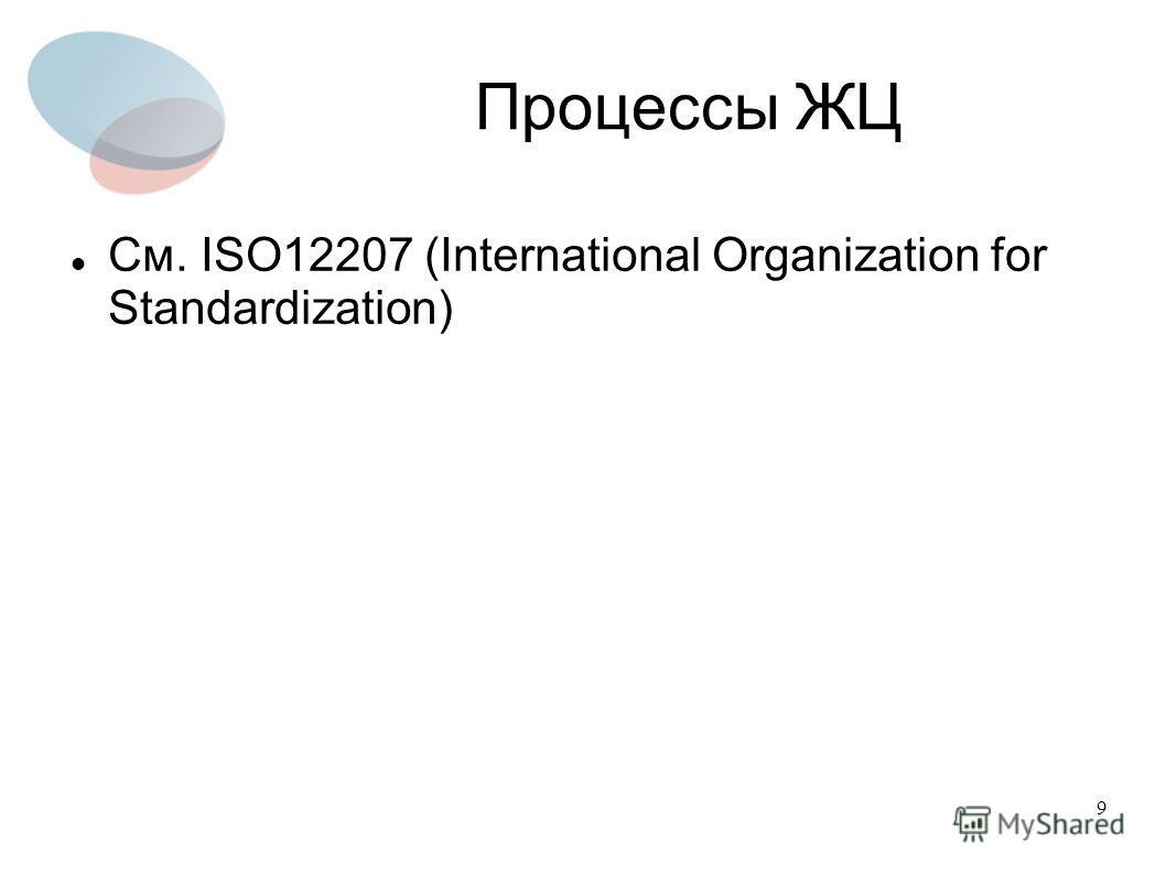 9 Процессы ЖЦ См. ISO12207 (International Organization for Standardization)
