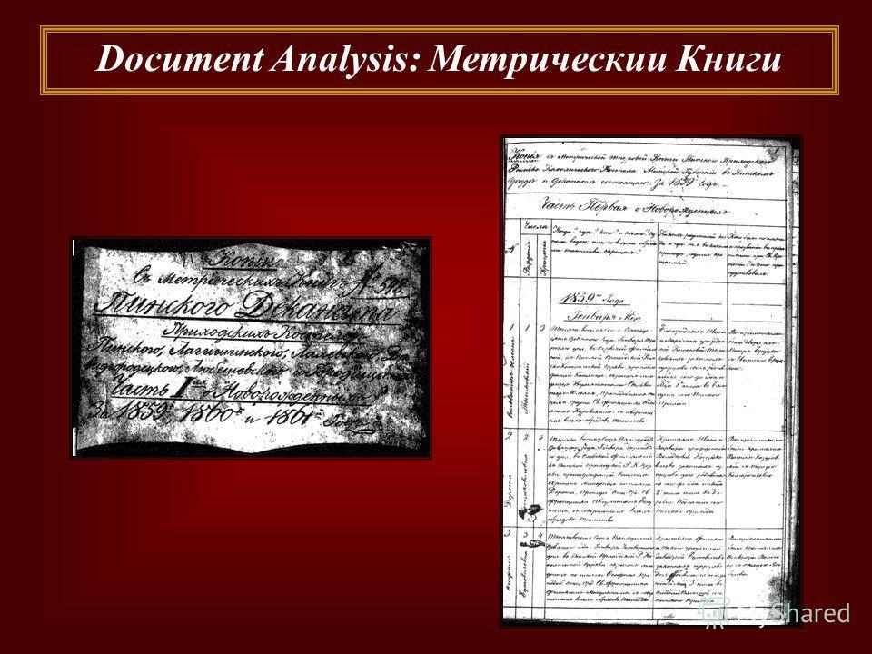 Document Analysis: Метрическии Книги