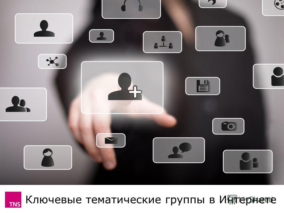 Ключевые тематические группы в Интернете