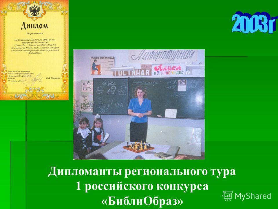 Дипломанты регионального тура 1 российского конкурса «БиблиОбраз»