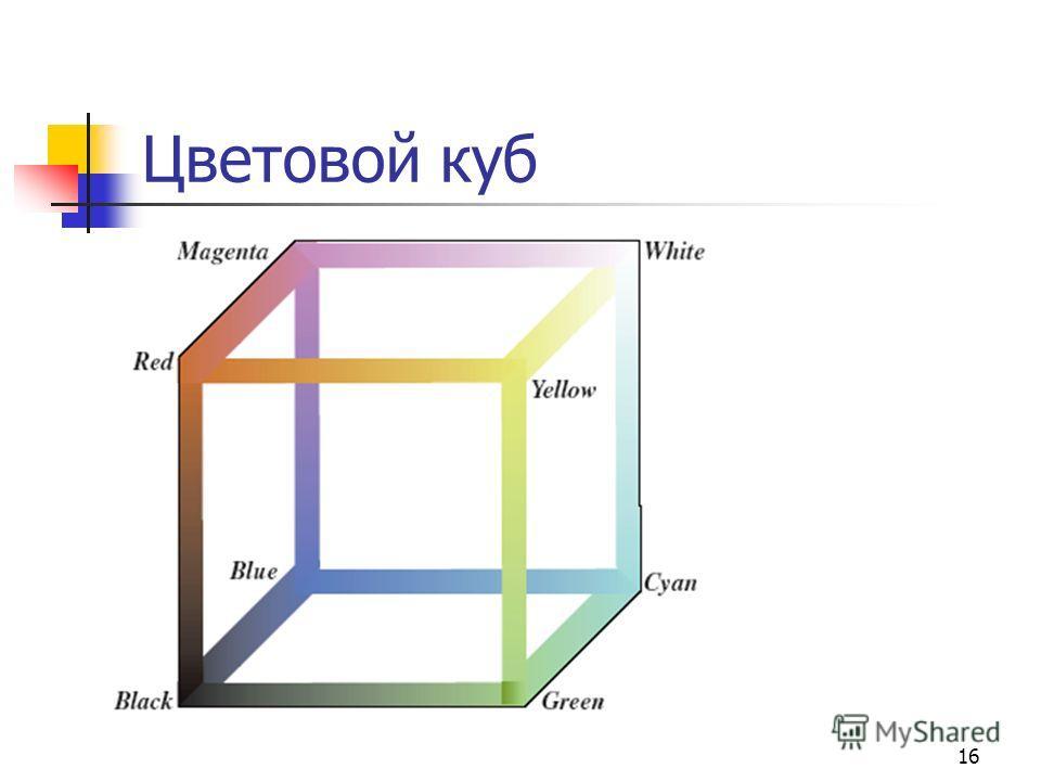 16 Цветовой куб