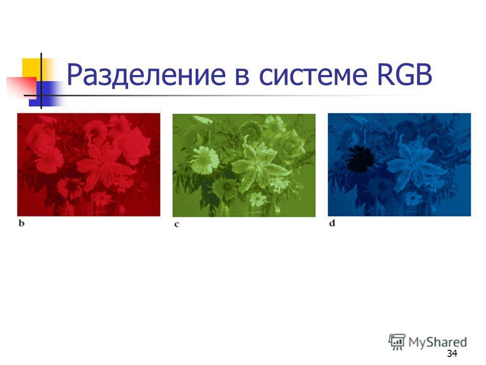 34 Разделение в системе RGB