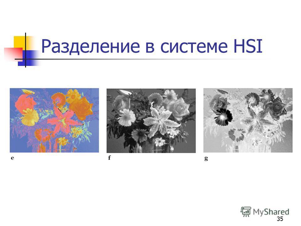 35 Разделение в системе HSI