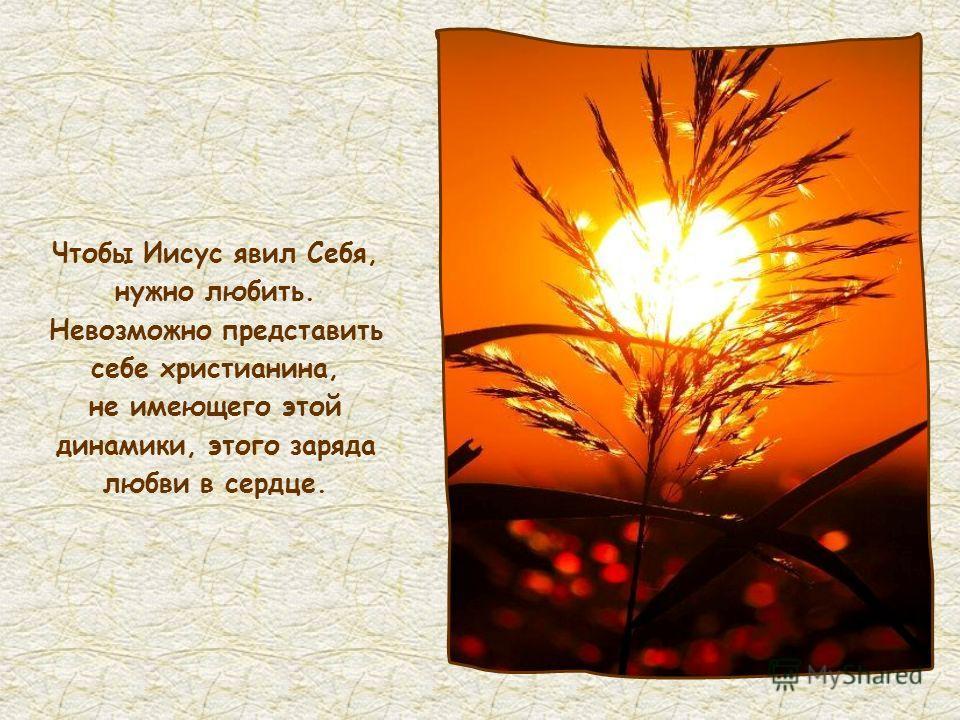 Кто любит Меня, тот возлюблен будет Отцем Моим; и Я возлюблю его и явлюсь ему Сам (Ин 14,21)