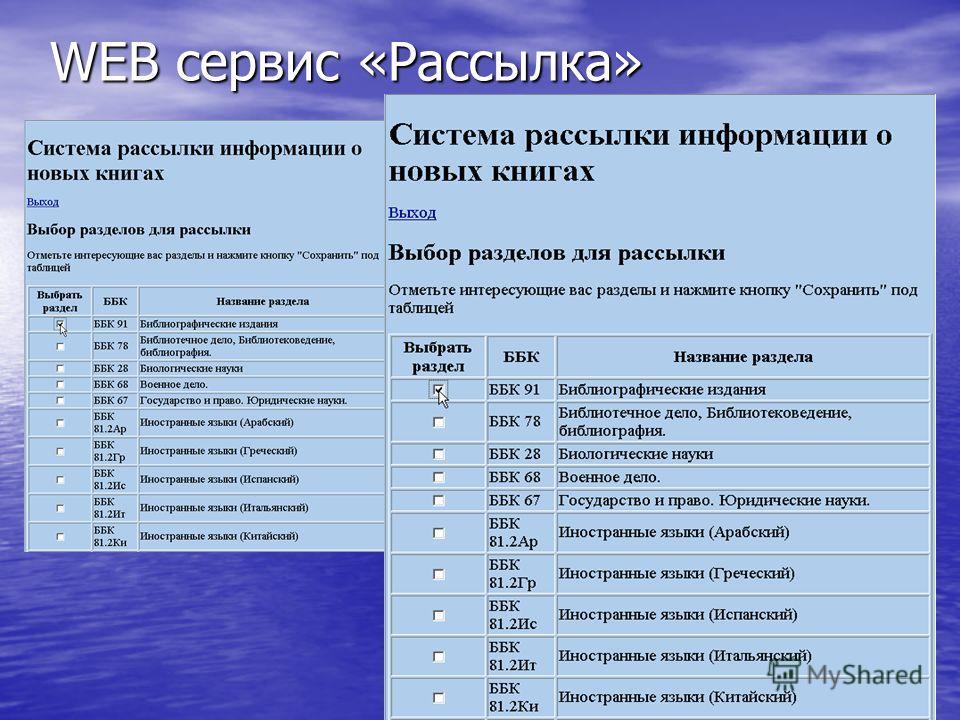 WEB сервис «Рассылка»