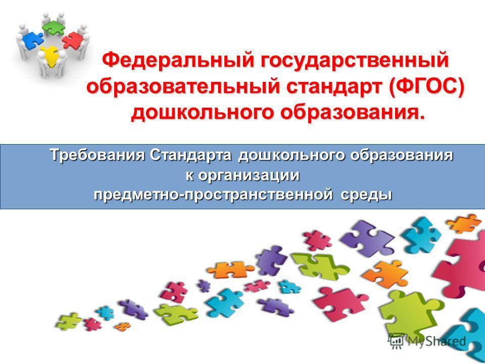 Федеральный государственный образовательный стандарт (ФГОС) дошкольного образования. Требования Стандарта дошкольного образования к организации предме