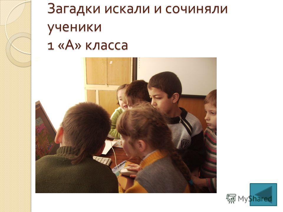 Загадки искали и сочиняли ученики 1 « А » класса