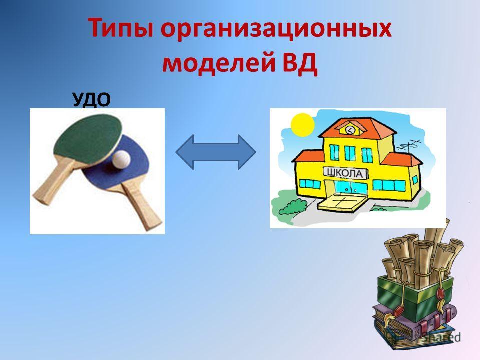 Типы организационных моделей ВД УДО