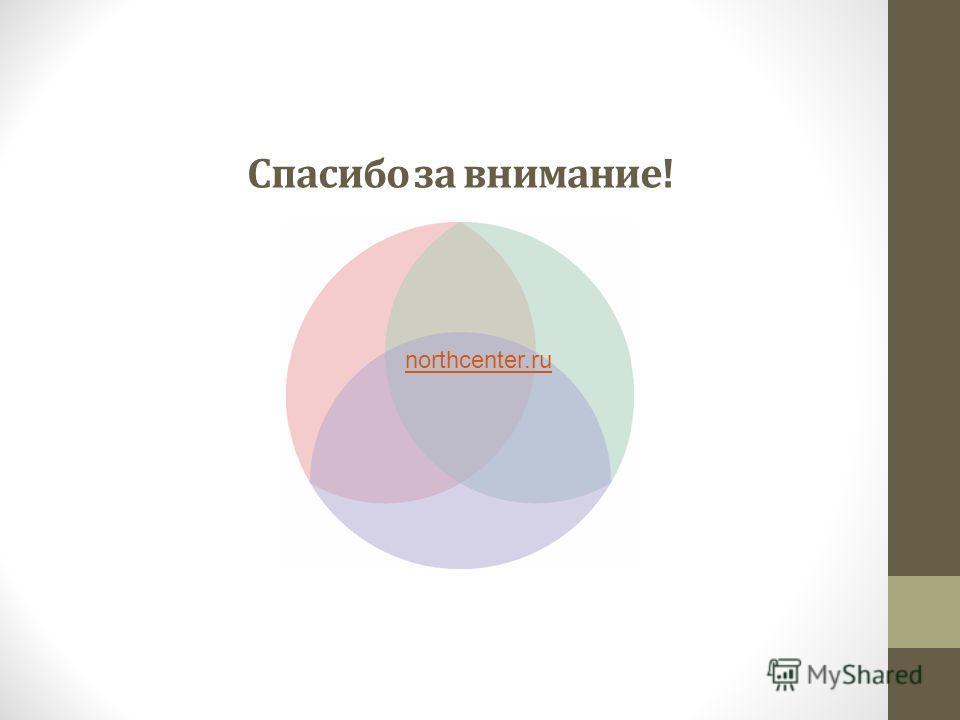 Спасибо за внимание! northcenter.ru