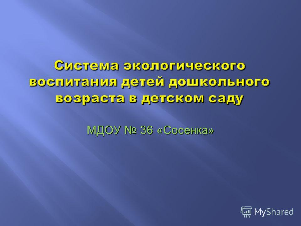 МДОУ 36 «Сосенка»