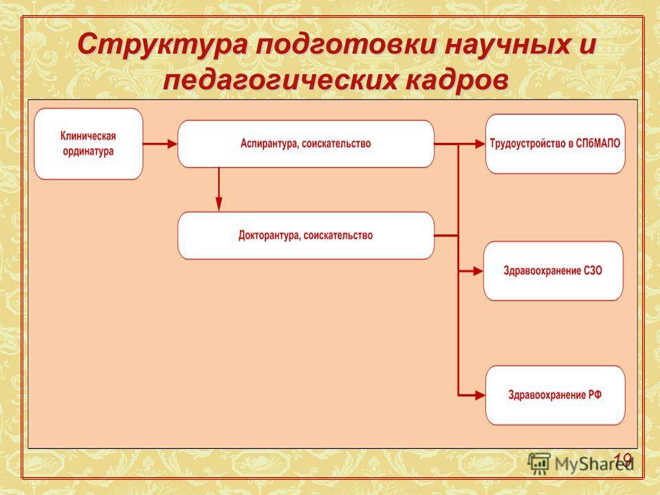 Структура подготовки научных и педагогических кадров 19