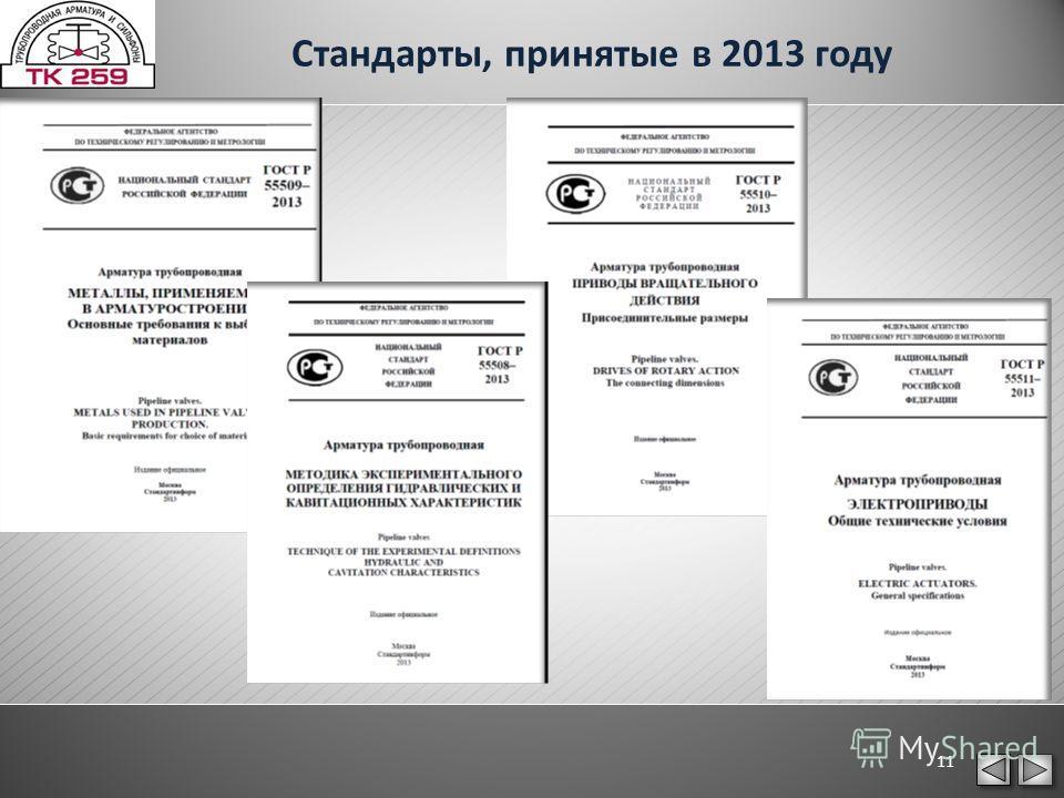Стандарты, принятые в 2013 году 11