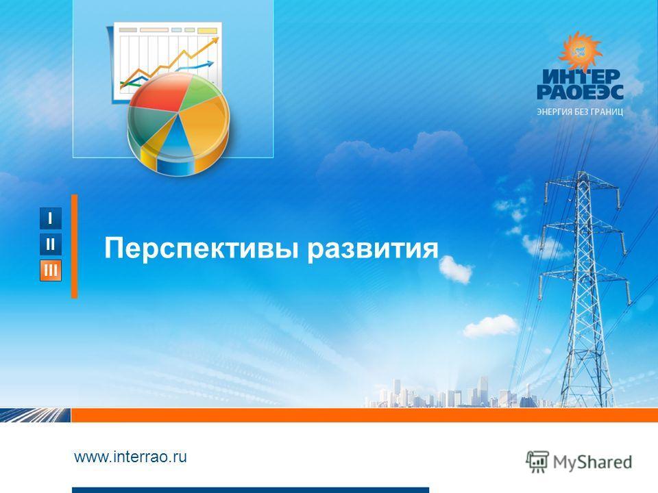 I II III www.interrao.ru Перспективы развития