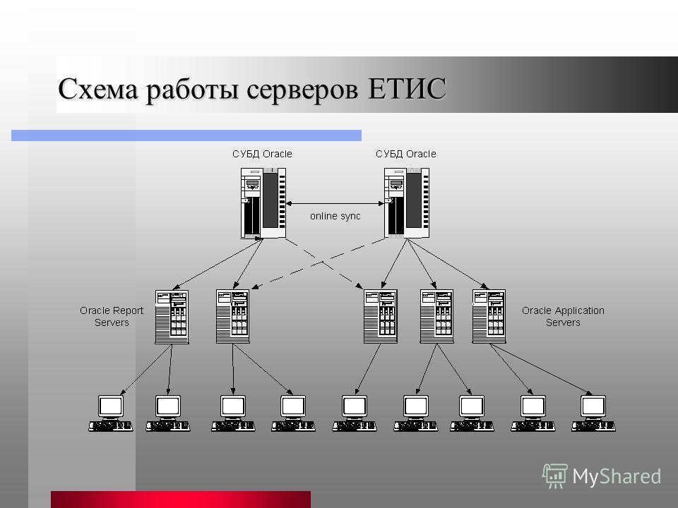 Схема работы серверов ЕТИС
