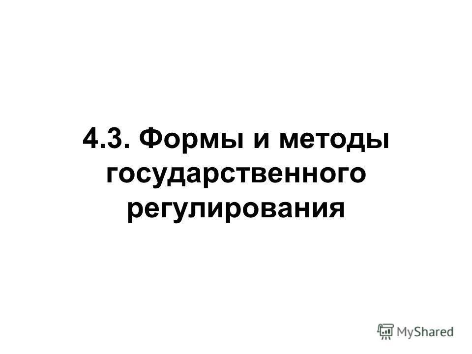 4.3. Формы и методы государственного регулирования