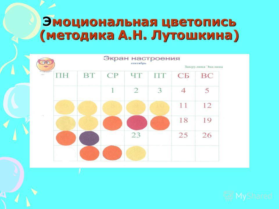 Эмоциональная цветопись (методика А.Н. Лутошкина)