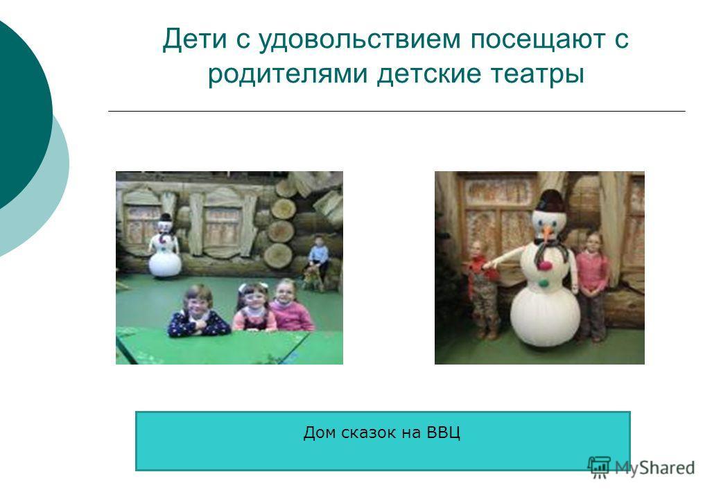 Дети с удовольствием посещают с родителями детские театры Дом сказок на ВВЦ