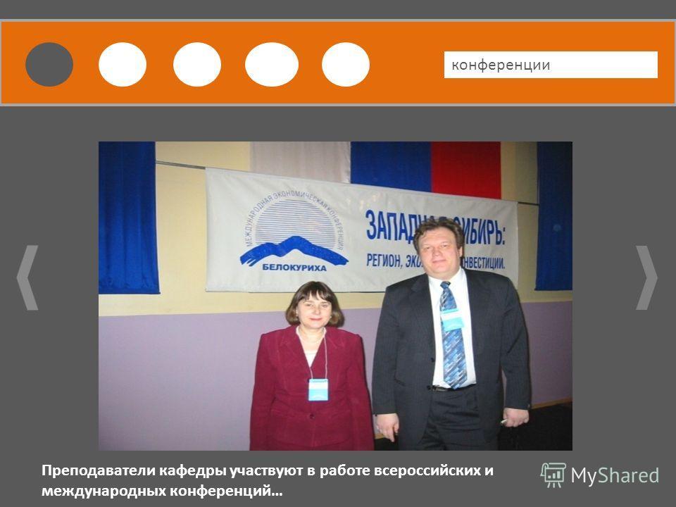 ПВАПВАПВАПВАПВА конференции Преподаватели кафедры участвуют в работе всероссийских и международных конференций…
