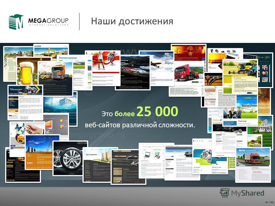 ver 1.3nc Наши достижения Это более 25 000 веб-сайтов различной сложности.