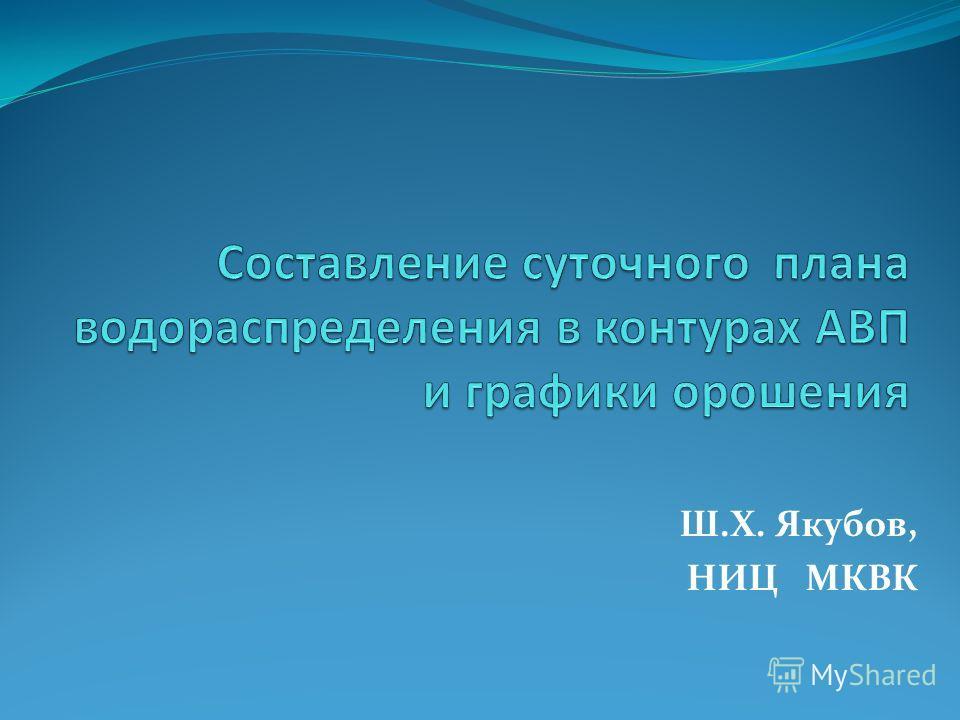 Ш.Х. Якубов, НИЦ МКВК