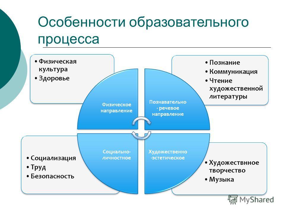 Особенности образовательного процесса