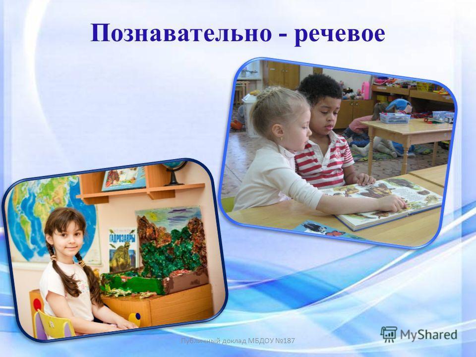 Познавательно - речевое Публичный доклад МБДОУ 187