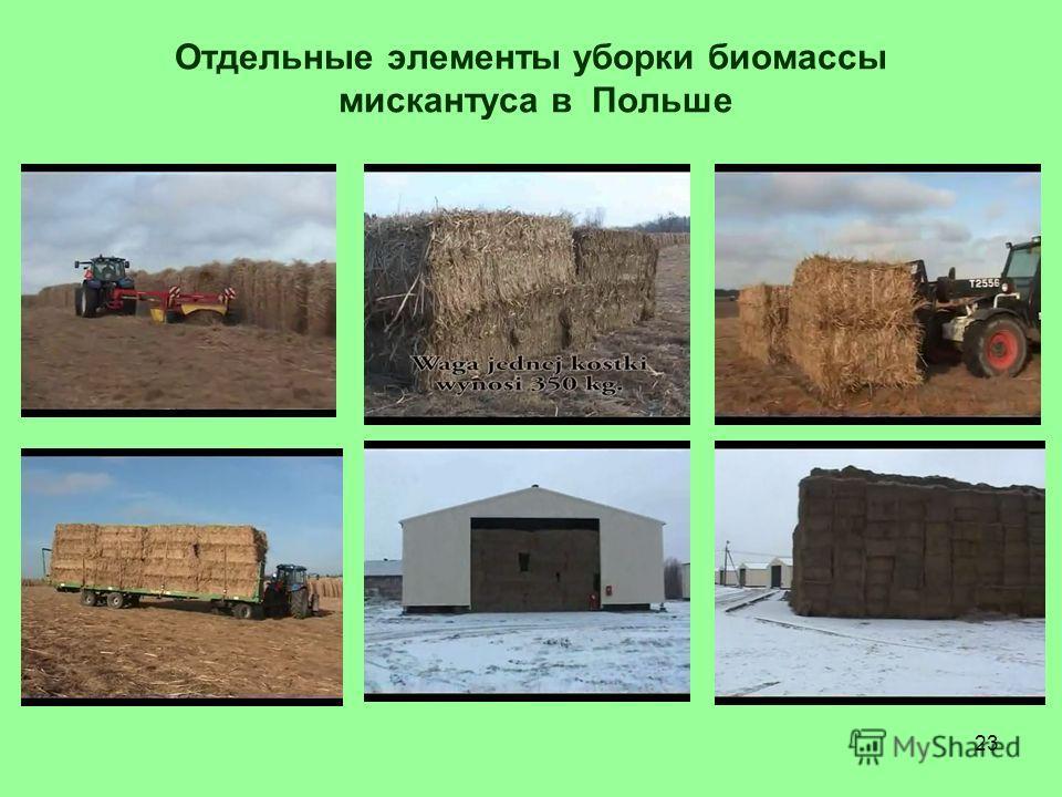 23 Отдельные элементы уборки биомассы мискантуса в Польше