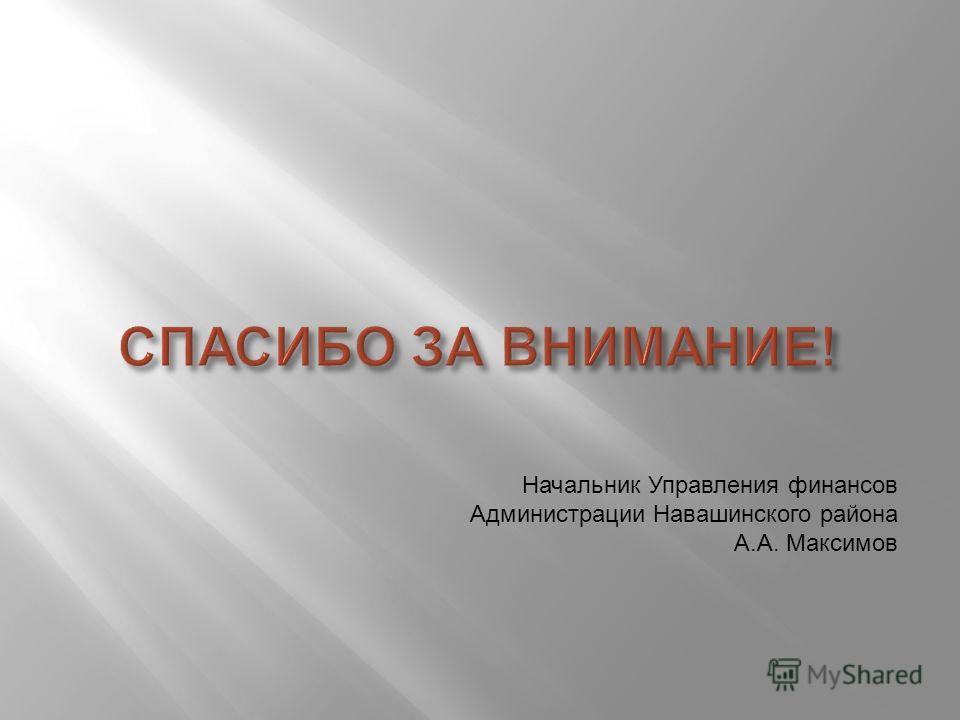 Начальник Управления финансов Администрации Навашинского района А.А. Максимов