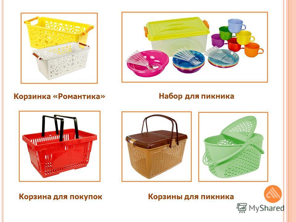 Корзинка «Романтика» Набор для пикника Корзина для покупокКорзины для пикника
