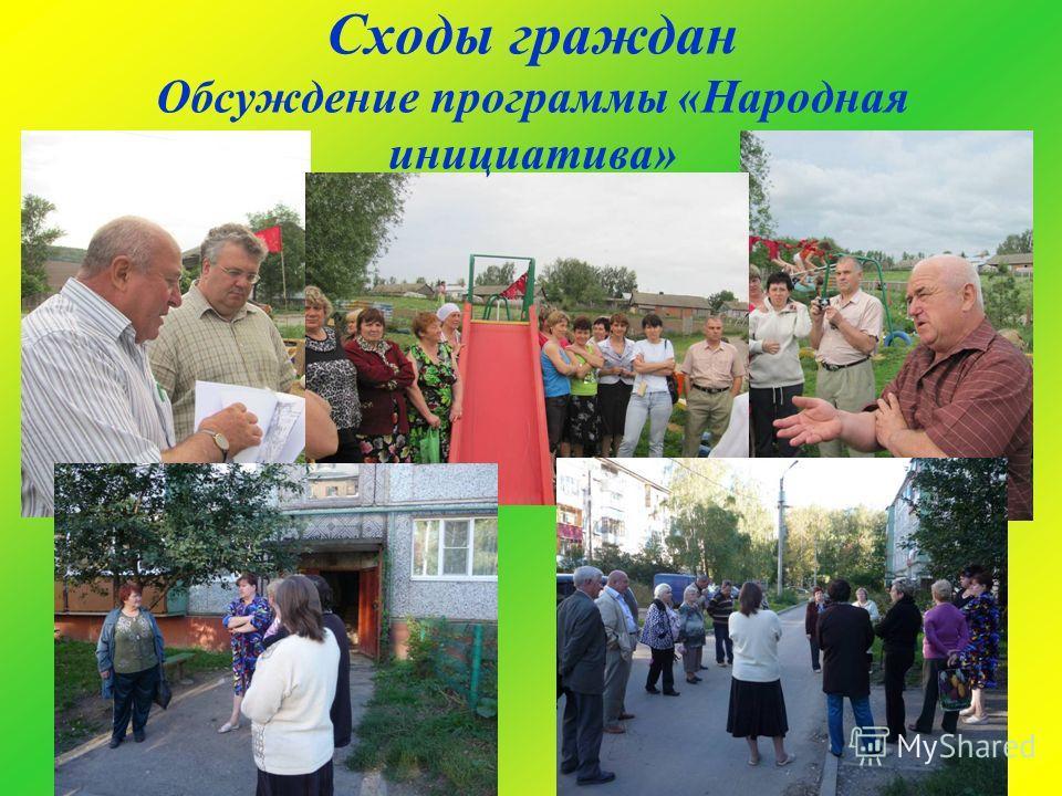 Сходы граждан Обсуждение программы «Народная инициатива»