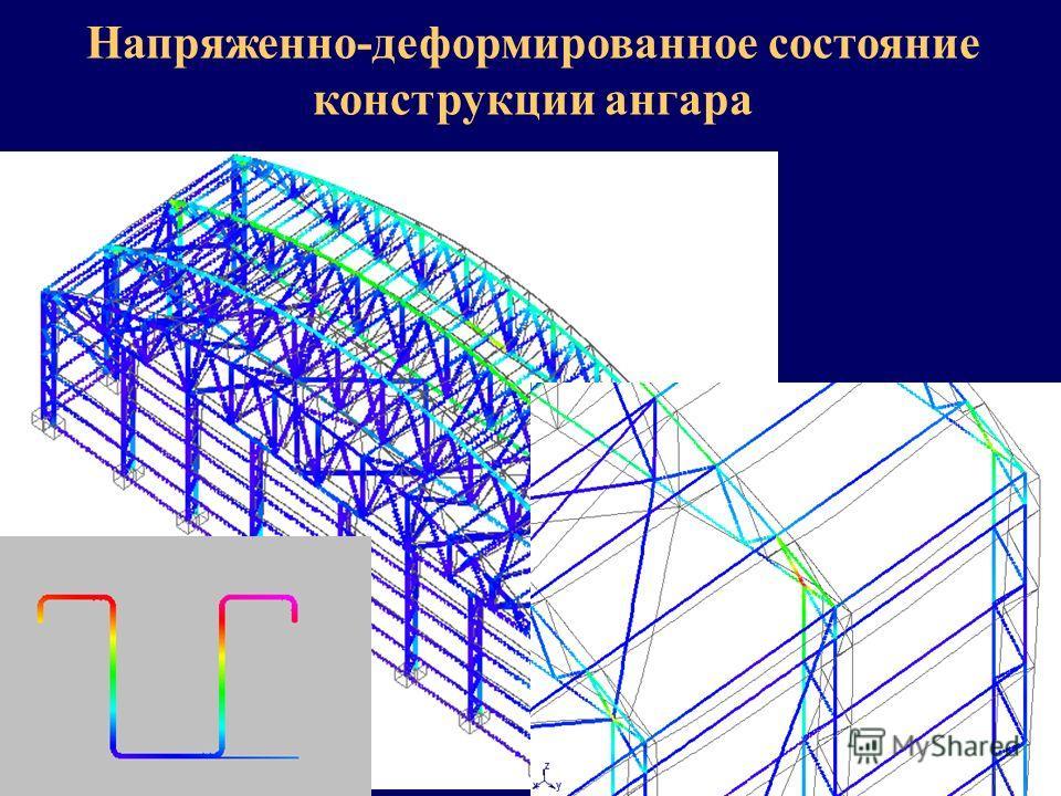 НТЦ АПМ Напряженно-деформированное состояние конструкции ангара