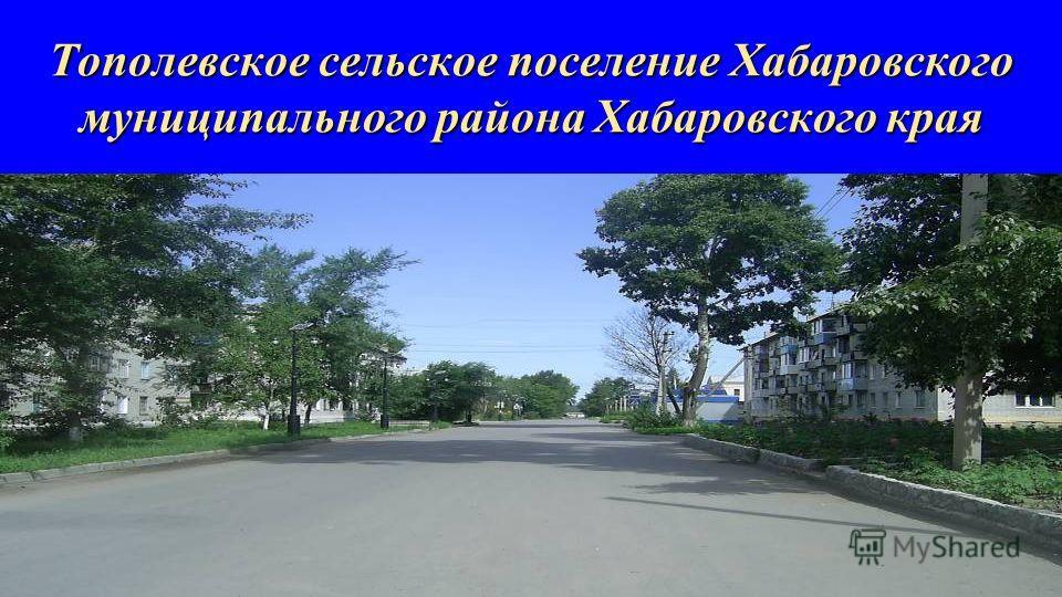 Тополевское сельское поселение Хабаровского муниципального района Хабаровского края
