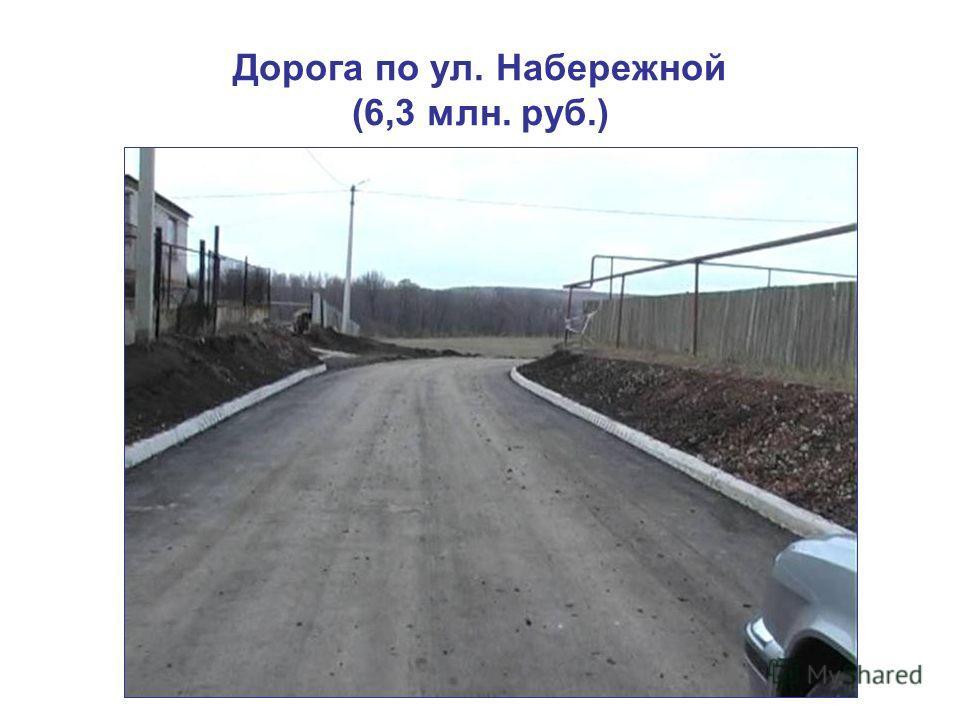 Дорога по ул. Набережной (6,3 млн. руб.)