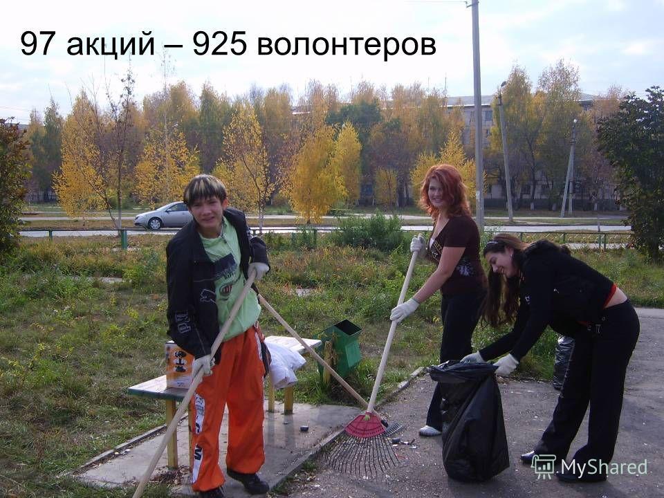 97 акций – 925 волонтеров